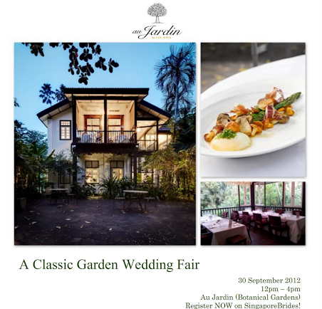 Wedding fair at au jardin eternal emotion singapore for Au jardin wedding