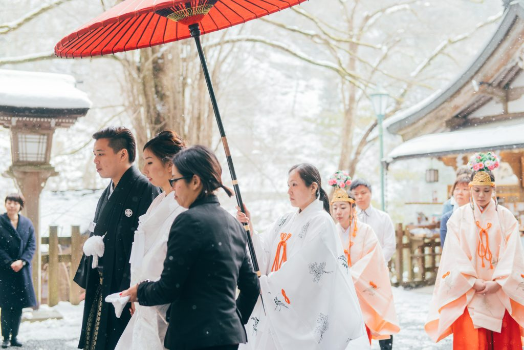 Traditional Japanese Wedding.Beautiful Snow Wedding In Japan Kyoto Eternal Emotion Singapore